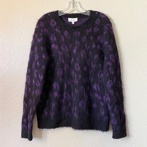 & Other Stories Leopard Animal Print Shaggy Knit M